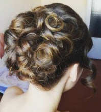 9 Curled Formal Updo For Long Hair