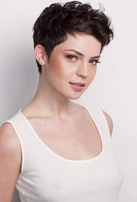 2017 Short Pixie Haircuts For Curly Hair Inside Best 25+ Curly Pixie Cuts Ideas On Pinterest