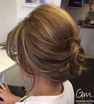 12 Curly Low Updo For Bob Length Hair