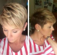 14 Feathered Pixie With Balayage Highlights