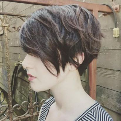 22 Angled Pixie Bob With Layers