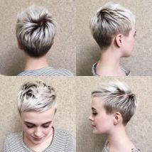 29 Blonde Pixie With Short Angled Layers