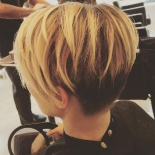 32 Two Toned Pixie Cut