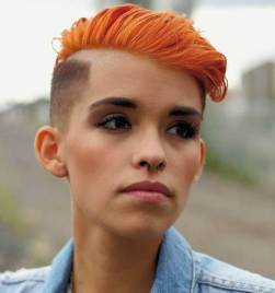 7 Short Red Undercut For Women