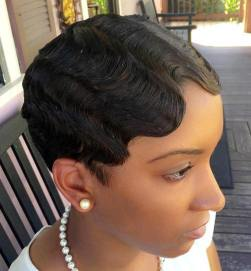 7 Very Short Hairstyle With Finger Waves