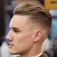 Hairstyles For Long Faces Undercut Fade Textured Brush Back