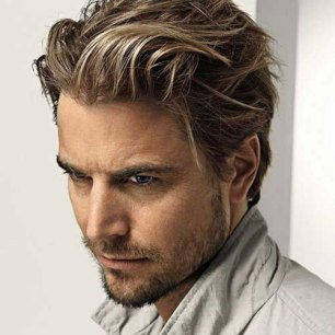 Long Brushed Back Hair Short Beard