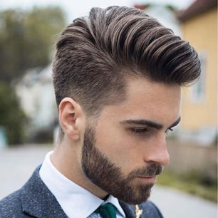 Low Fade Comb Over Beard