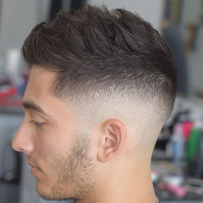 Mid Bald Fade With Spiky Hair