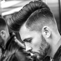 Modern Pompadour With Taper Fade
