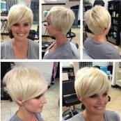 Short Blonde Pixie Hair For 2018