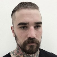 Slick Back Undercut Beard