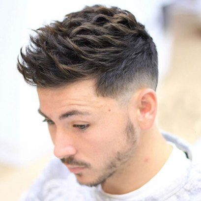 Textured Spiky Hair Low Fade