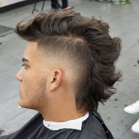 Thick Haircuts Faux Hawk Fade