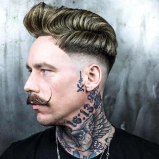 Braidbarbers Step Fade Side Part Quiff Mens Hair 2018 1