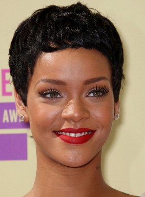 Rihanna Hairstyles Modern Boy Cut For Oval Face