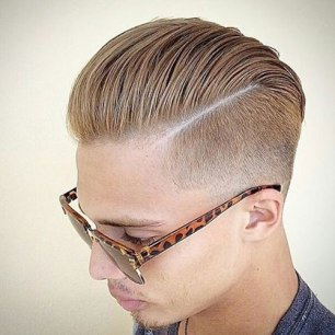 Slick Back With Part And Low Fade