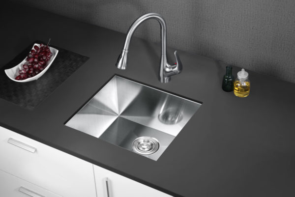 calacatta kitchen sink 20 inch handmade single bowl 16 gauge undermount stainless steel 304 kitchen sink w drain strainer grid dish cloth
