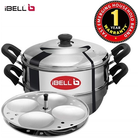 Stainless Steel Idli Maker with 2 Idly Plates (8 Idlyes)