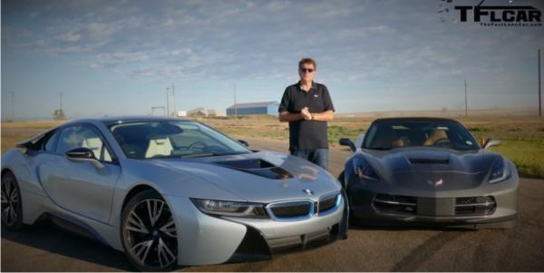 corvette vs BMW i8-1
