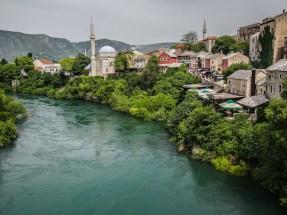 La vieille ville de Mostar totalement reconstruite suite à la guerre de Bosnie © Topich