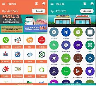 Aplikasi Android Topindo Solusi Komunika Pulsa