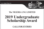 Nigeria Liquefied Natural Gas (NLNG) Scholarship (for 100 Level Students) 2019 is Out