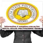 Delta State Polytechnic Ozoro (DSPZ) ND Part-Time Admission Form for 2019/2020 Academic Session