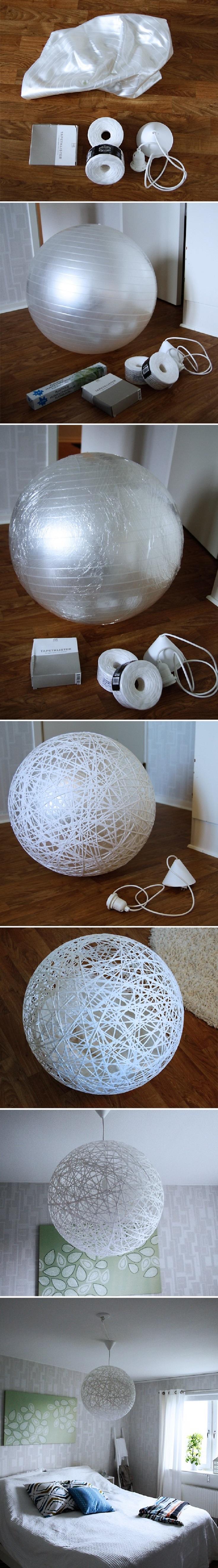 Membuat Bola Lampu Raksasa di Kamar Tidur