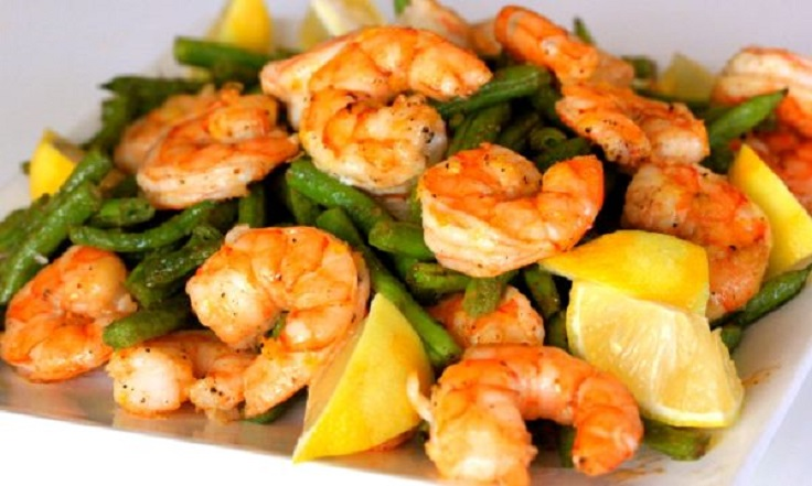 Roasted Shrimp and Green Beans