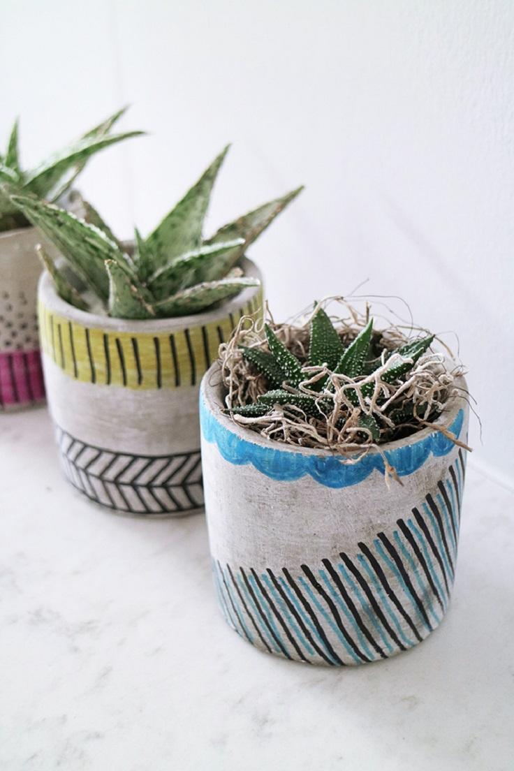Top 10 DIY Beautiful Indoor Planters