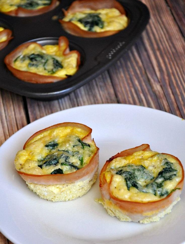 4. Turkey, Egg, Spinach & Cheese Mini Quiches