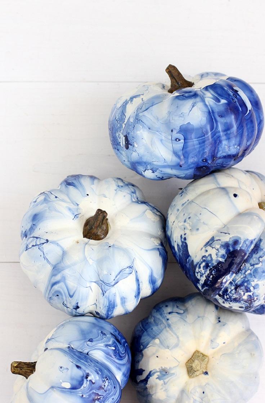6. Marbled Indigo Pumpkins