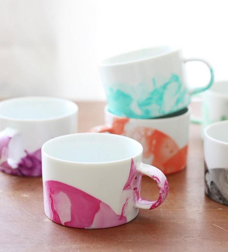 2. Marble Mugs