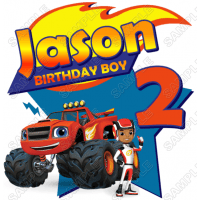 Blaze And The Monster Machines Personalized Birthday T Shirt