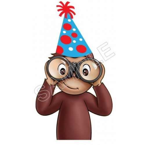Curious George Birthday T Shirt Iron On Transfer Decal 10