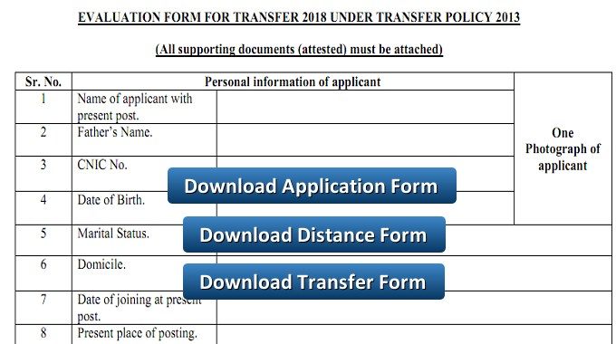 Download Teacher Transfer Application Distance form and NOC – Full Information