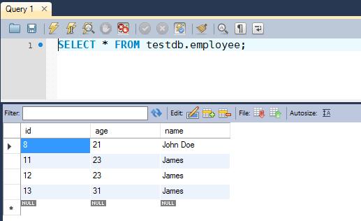 JDBC Updatable ResultSet