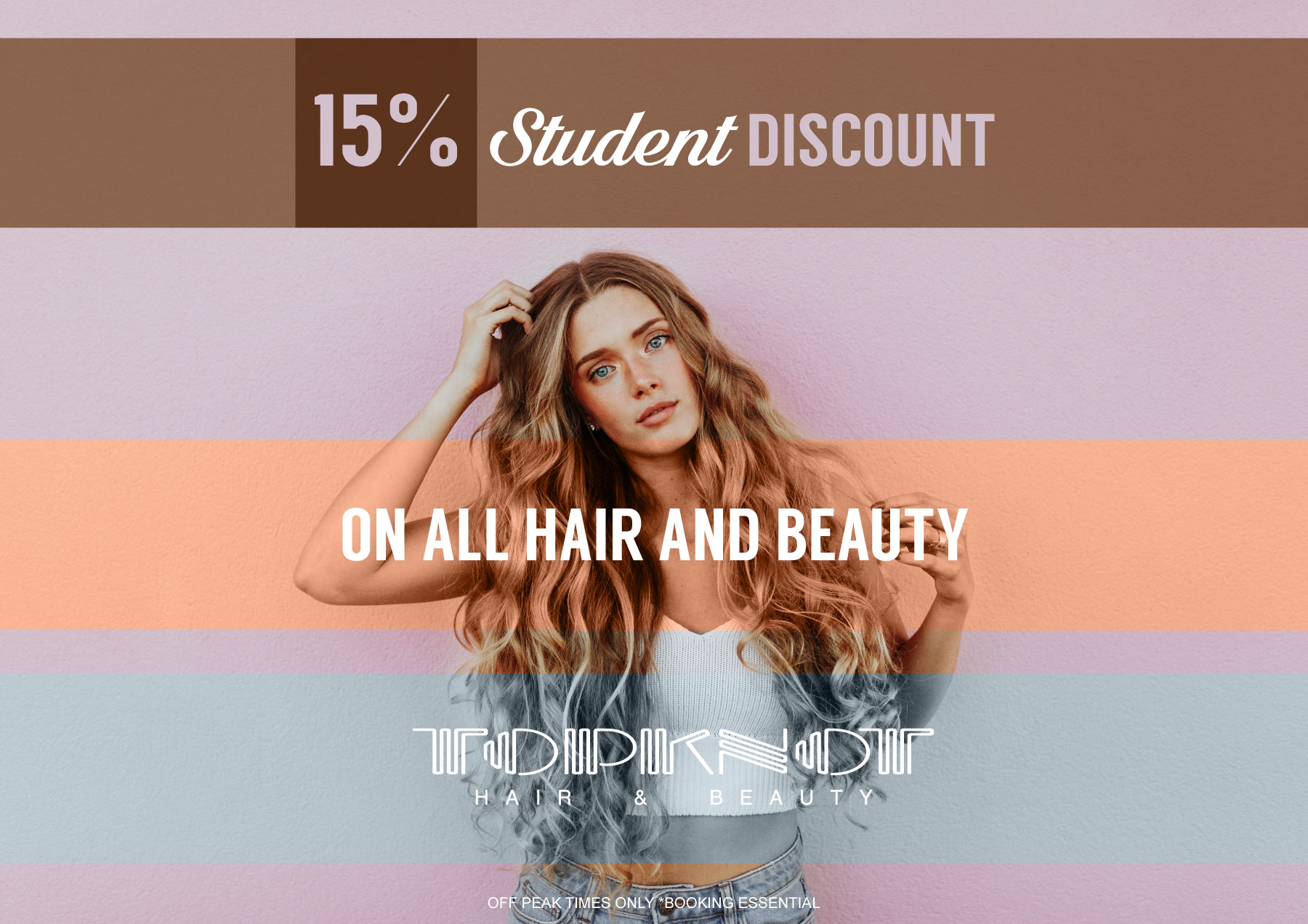Student Discount Topknot Salon Hair and Beauty Nottingham Topknot