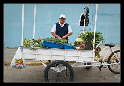 Lima vegetable vendor