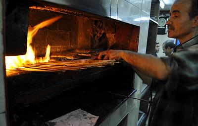 Kebab seller in Jerusalem