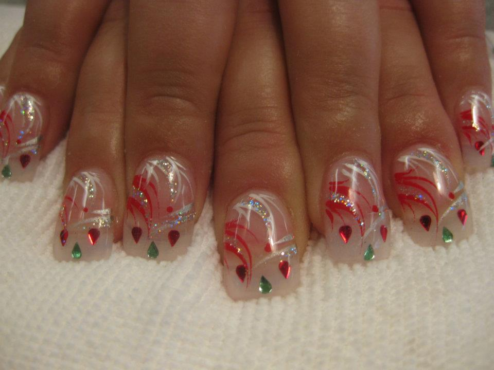 Christmas Present Nail Art Designs By Top Nails Clarksville Tn