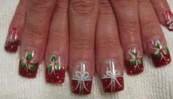 Christmas present nail art designs by top nails clarksville tn the gift of mistletoe nail art designs by top nails clarksville tn prinsesfo Choice Image