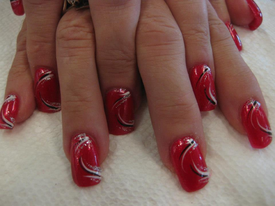 Valentine Swirl, nail art designs by Top Nails, Clarksville TN. - Valentine Swirl, Nail Art Designs By Top Nails, Clarksville TN