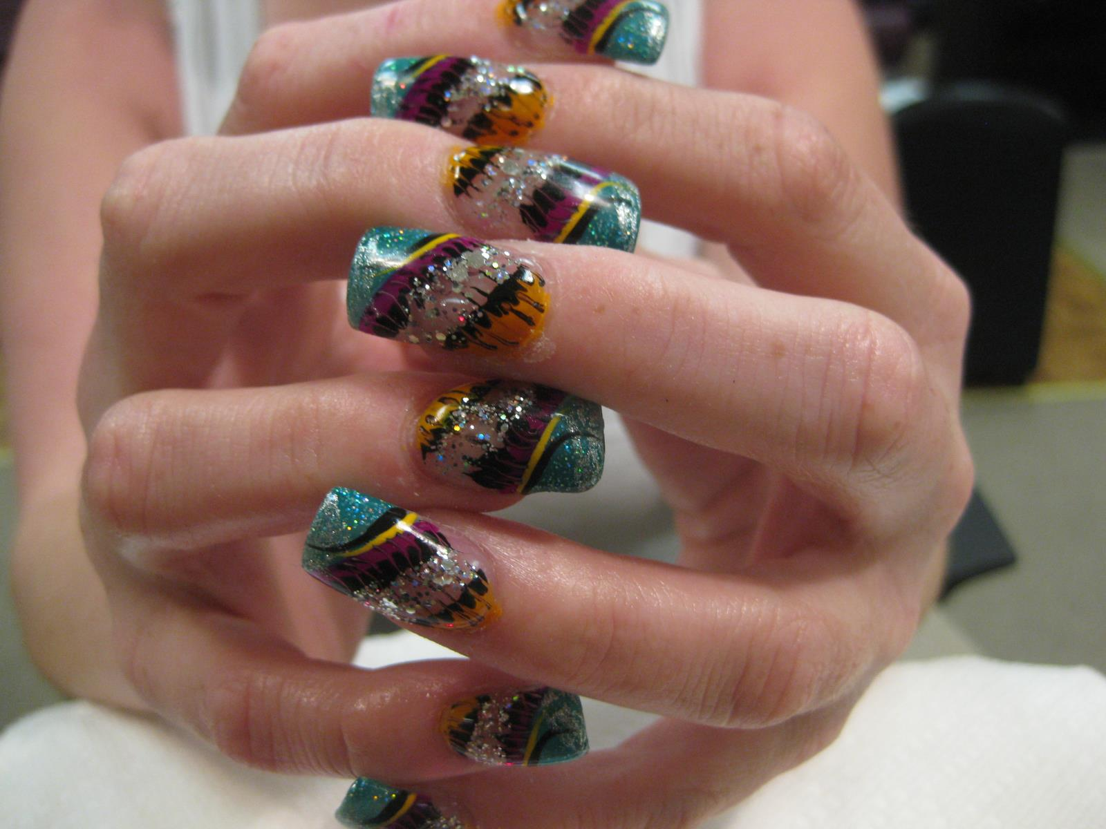 Brazilian Mardi Gras, nail art designs by Top Nails, Clarksville TN ...