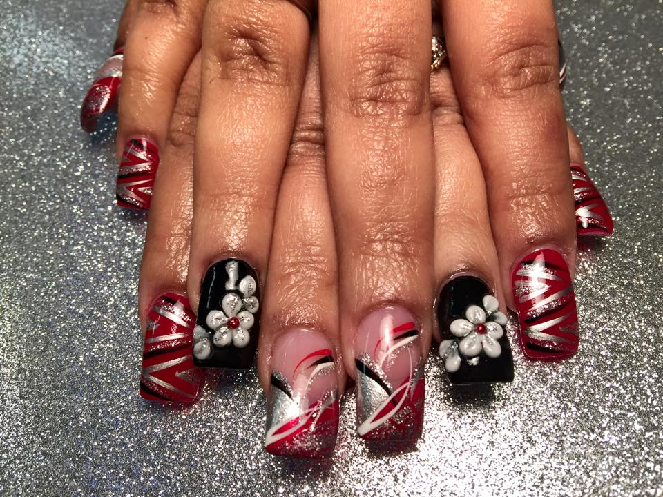 New Year\'s Eve Splash, 3D nail art designs by Top Nails, Clarksville ...