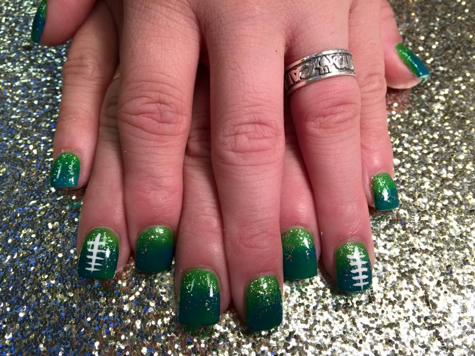Sparkling Irish, nail art designs by Top Nails, Clarksville TN ...
