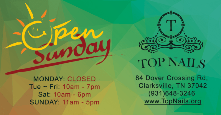 We're open on Sunday.