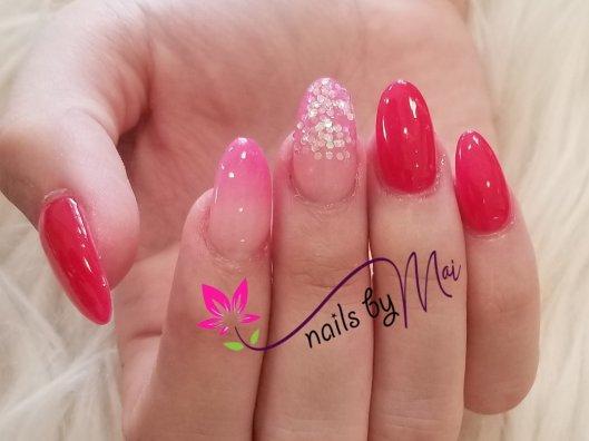 No primer, no monomer, healthy SNS dip powder nails by Mai