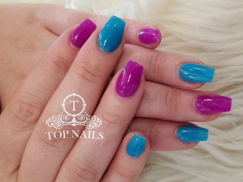 SNS dip powder natural nails